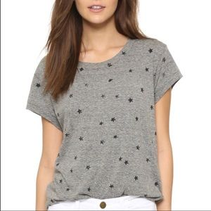 CURRENT/ELLIOTT Classic Crew Tee w/ Mini Stars 1/S
